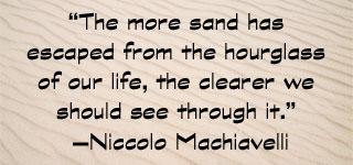 Sand Hourglass Machiavelli